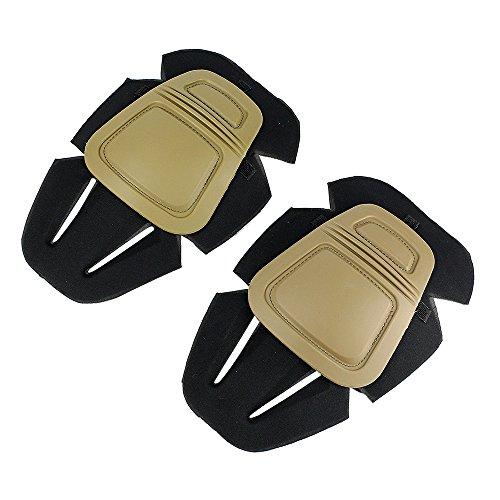 Almohadillas protectoras de la rodilla, protector de la rodilla de Airsoft Paintball...