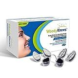 WoodyKnows 3 in 1 Anti Allergie Nasenfilter kombiniert Ultra-Atmungsaktiv, Super Defense und Gas- und Schmutzreduzierung in einem zur Linderung von Pollen und Stauballergien (Längliche Nasenlöcher, I-S)