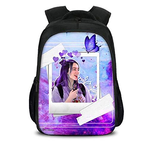 3D Billie eilish Druck Kinder Schule rucksäcke bookbags schultaschen Casual Bookbag für Kinder zurück in die Schule große College Schule Bookbag Computer Tasche für männer Frauen passt Neue 7 (Große Schule Bookbags)