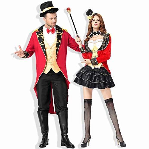 CN Halloween Female Magician Kostüm Circus Earl Smoking Paar Rollenspiel Kostüm,männlich,XL