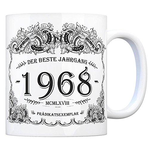 trendaffe - 1968 der Beste Jahrgang Kaffeebecher - EIN tolles Geschenk zum Geburtstag für Wein Liebhaber und alle die im Jahr 1968 geboren sind.