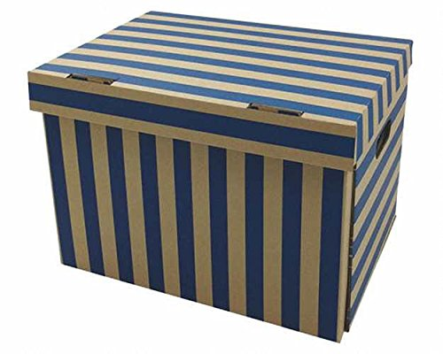 10 Stk. Archivbox 400x320x290mm gestreift extrem stabil, bis 250kg stapelbar/Ausführung: In attraktiver Blaustreif-Optik