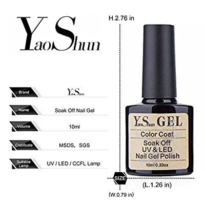 Y&S UV LED Soak Off Gel Nail Polish Top Coat and Base Coat Set
