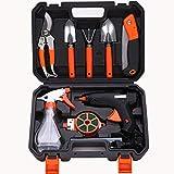 SKLLA Combinaison d'outils de Jardin, Ensemble d'outils de Jardinage, Pistolet à Colle électrique Ensemble, Outil de Floraison de Jardin (10 Ensembles d'outils)