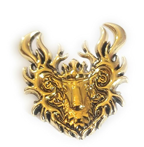 me of Thrones House Baratheon Stag Badge Pin Brooch ** With Free GIFT BAG** ()