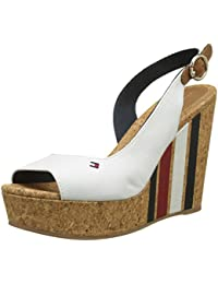Tommy Hilfiger Wedge With Printed Stripes, Alpargata Para Mujer