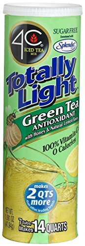 4C Totally Light Green Tea, Sugar Free, 7-Count Canisters (Pack of 4)