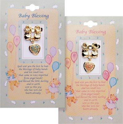 Baby Segen Bootie-Brosche pink girl Gold Farbige Metall Charm Medaille Baby Girl Bootie