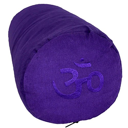 Tvamm-Lifestyle Bolster de Yoga-Special, 65x Ø 22cm, Sarrasin-rembourré, Lila Riti