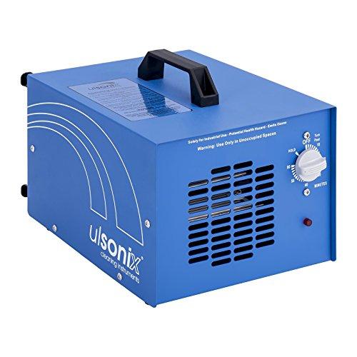 Ulsonix - Ozongenerator Ozonsisator (20.000 mg/h, 205 W, 60 min Timerfunktion, integriertes UV-Licht + Fernbedienung) Blau