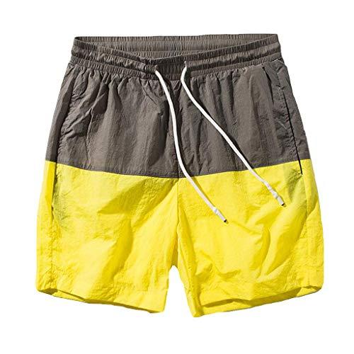 BURFLY Herren-Shorts mit geraden Shorts für Männer Slim Badehosen für Kurze Hosen, die schnell trocknen - 2 Stück Mesh Robe
