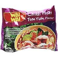 Wai Wai Nouilles Instantanées Tom Yum Pâte Piment 60 g - Pack de 30