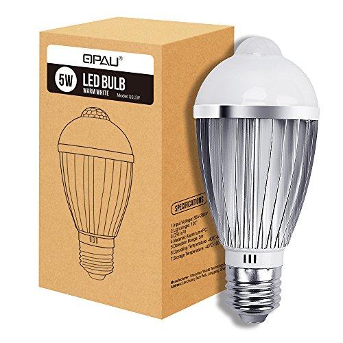 led lampe qpau led birne sensor 5w e27 450lm. Black Bedroom Furniture Sets. Home Design Ideas