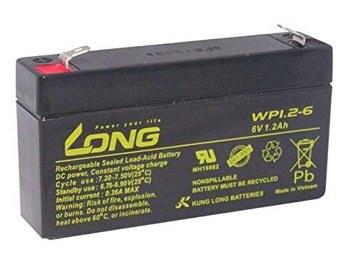 Akku Accu kompatibel Multipower MP1,2-6 CP612 6V 1,2Ah Blei Vlies AGM Batterie
