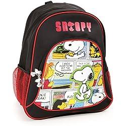Mochila escolar Snoopy para niños mochila mochila escolar | incluye dos bolsillos de malla a los lados y mucho espacio de almacenamiento | acolchado óptimo de las correas de transporte | tamaño aprox