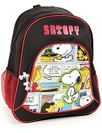 Mochila escolar Snoopy para niños mochila mochila escolar | incluye dos bolsillos de malla a los
