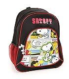 Snoopy Kinderrucksack Schulrucksack Schultasche | beeinhaltet zwei Netztaschen an den Seiten und viel Stauraum | optimale Polsterung der Tragegurte, Größe ca. 33 x 15 x 39 cm