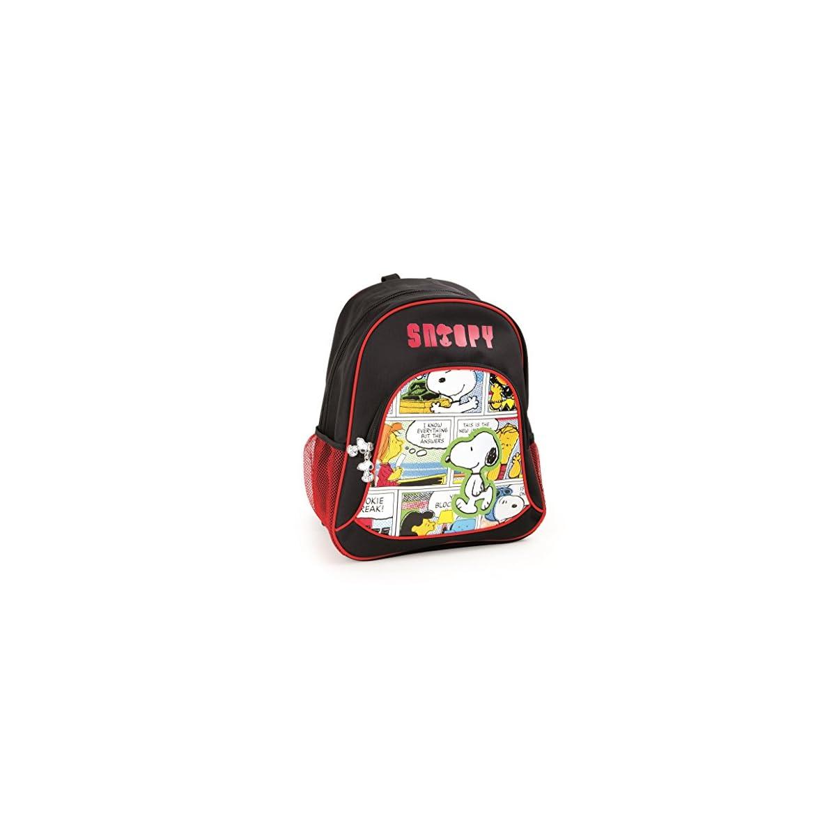 51Hfi OgrEL. SS1200  - Mochila escolar Snoopy para niños mochila mochila escolar | incluye dos bolsillos de malla a los lados y mucho espacio de almacenamiento | acolchado óptimo de las correas de transporte | tamaño aprox