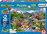 Schmidt Spiele Puzzle 56192, blau, Im Reich der Dinosaurier, 100 Teile