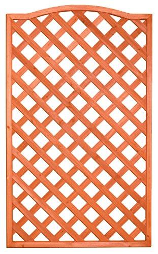 HOMEGARDEN Pannello grigliato Sagomato in Legno trattato 4 pz 90x180 cm