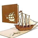 Excellente Carte pour Voyage Bon à offrir ou par exemple pour Croisière, voile Voyage Voyage au bord de la mer, B02...