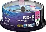 20 TDK LTH Bluray 25GB BD-R 4x Speed Inkjet Printable Blue Ray Discs Original Spindle
