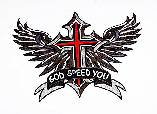 flügelten Kreuz Flügel bestickt Patch Sew Iron on gesticktes Badge Schild Kostüm (Geflügelte Kostüme)