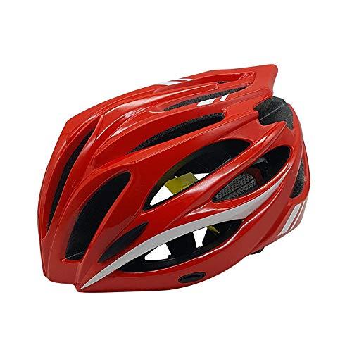 Mihaojianbing Männer Und Frauen Atmungsaktive Universal Helm Erwachsene Siamesische Fahrradhelm Fahrradausrüstung Rollschuhlaufen Sport Schutzausrüstung Sicherheit Auswirkungen Cool (Farbe : Red) -