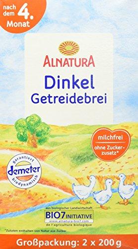 Alnatura Bio Dinkel-Getreidebrei, 4er Pack (4 x 400 g)