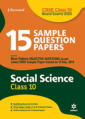 15 Sample Question Papers Social Science Class 10th CBSE