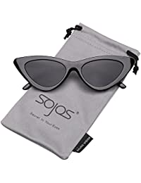 f40f08623f1 SOJOS Retro Vintage Narrow Cat Eye Sunglasses for women Clout Goggles  Plactic Frame Cardi B