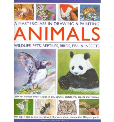 AMasterclass in Drawing and Painting Animals Wildlife, Pets, Reptiles, Birds, Fish and Insects by Hoggett, Sarah ( Author ) ON Jul-14-2010, Hardback