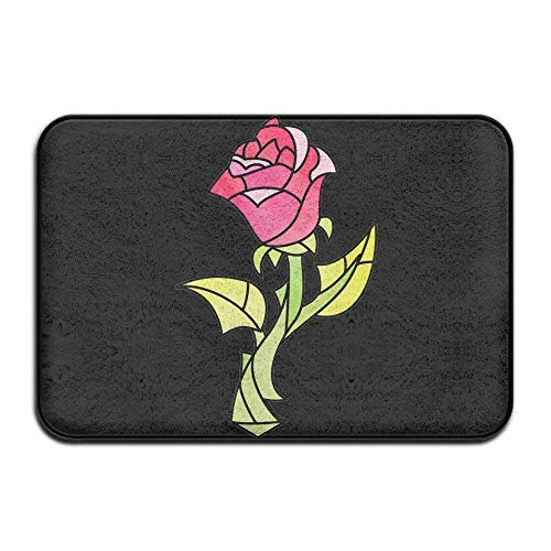 ferfgrg Cool Felpudos Rose Beauty and Beast Cool Outdoor Mats Indoor D