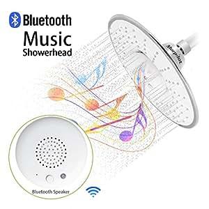 Morpilot douchette musique pommeau de douche avec haut parleur bluetooth 3 0 imperm able t te de - Pommeau de douche bluetooth ...
