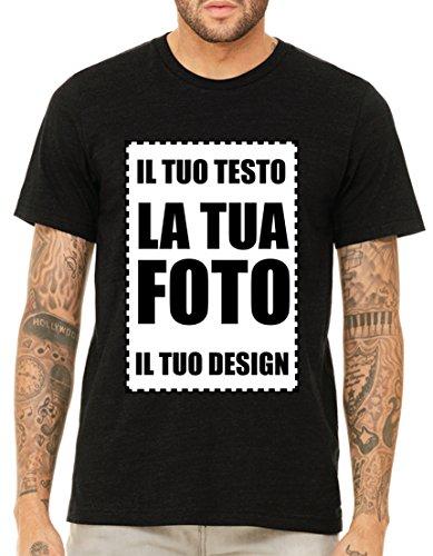 Villagestore personalizza online con disegni foto grafica testo logo messaggio nome la tua t-shirt con stampante diretta per tessuti (stampa fronte)