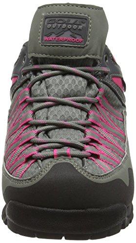 Gola Swiss, Chaussures de Randonnée Basses Femme Gris (Grey/Pink/Black)