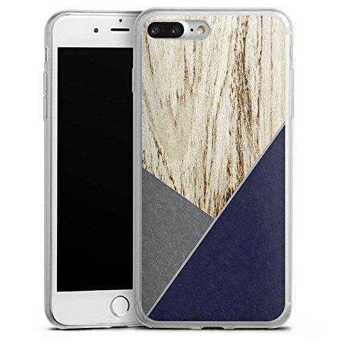 Apple iPhone 8 Plus Slim Case Silikon Hülle Schutzhülle Holz Modern Trend Silikon Slim Case transparent
