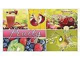 GRAZDesign 721573_40 Wandsticker Aufkleber Wandspruch für Küche Schriftzug Fruity Apfel Kiwi Obst (70x40cm)
