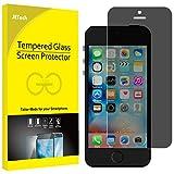 JETech iPhone SE / 5s / 5 / 5c Premium Privacy Anti-Spy Vetro Temperato Screen Protector Pellicola Protettiva Proteggi Schermo (Nero) - 0313H