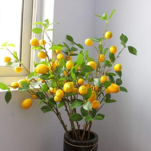 LACKINGONE Künstlicher Zweig Zitronenbaum künstlicher Zweig für Zuhause, Büro, Gastgeschenk-Dekoration