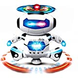 Itian Robot Radio Commandé 360 degrés de rotation intelligente Jouets Robots électrique Danse Marche avec Musique Lumière Fonction, Cadeau Jouets éducatifs pour enfants