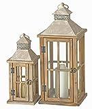 Set di 2 lanterne in legno