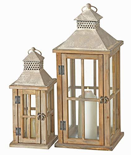 Laternen Set (2 Stück) aus Holz