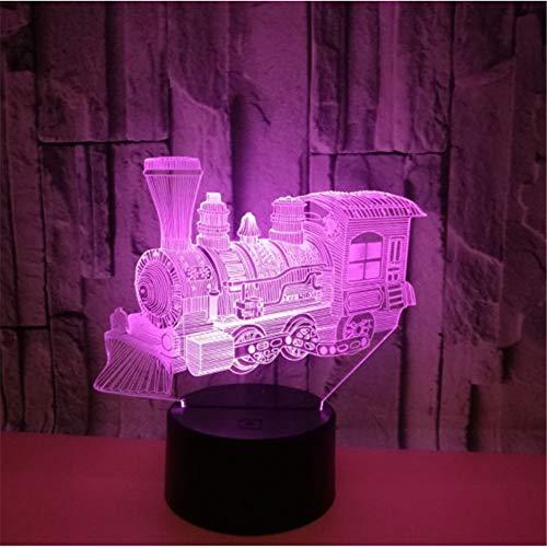 Mini Zug 3D Nachtlicht Sieben Farbe Touch Remote Led Visuelle 3D Lampe Kinder Geschenk Benutzerdefinierte Usb Led Leuchten (Benutzerdefinierte Geburtstag Ballons)