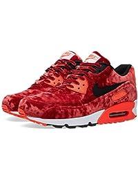 Nike Air Max 90 'Red Velvet' - Gym Red/Black-Infrrd-Mtllc Gld Trainer