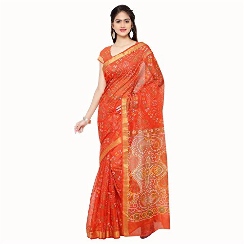 Rajnandini Women's Cotton Saree (Joplsrs1051E_Orange)