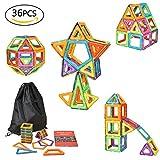 eLander Magnetische Bausteine Kinder 36tlg | eLander Magnetspielzeug, 3D Pädagogische Spielzeug, Geburtstag Kindertag Geschenk für Kinder ab 3 Jahre