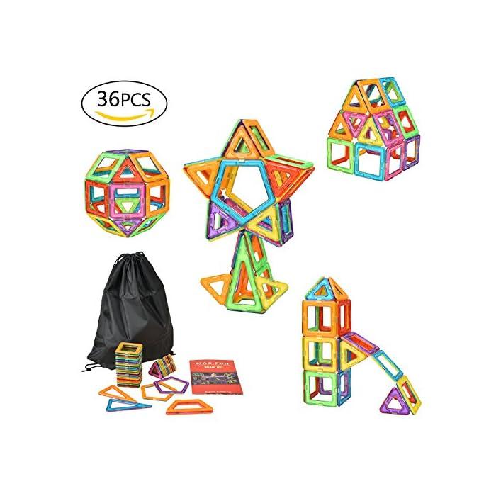 eLander [36 Stuck Magnetische Bausteine Set