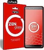 nandu I ZenGlass [2 Stück] Flexible Glas-Folie für Wiko Lenny 5 Panzerfolie I Display-Schutzfolie 9H I (Kleiner Als Das Gewölbte Display)