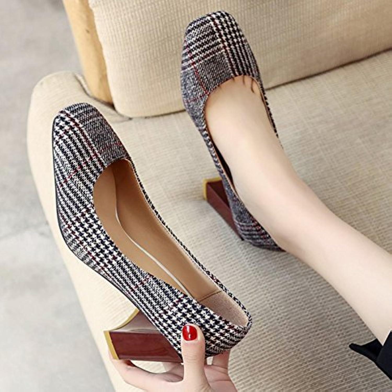 0c46bafb6c7150 les talons hauts féminins gaolim épaisses chaussures carré carré carré de  lumière unique avec le printemps sauvage des chaussures, des chaussures  pour ...